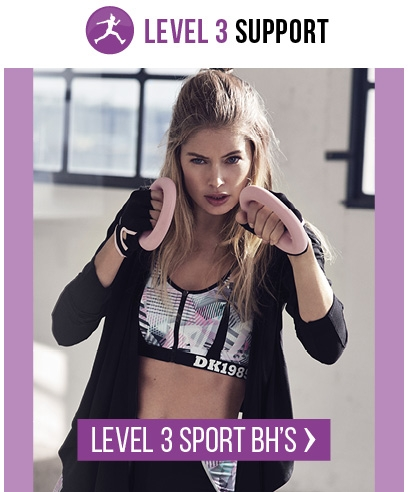 Doutzen Stories Level 3 Sport-BH's bij Hunkemöller